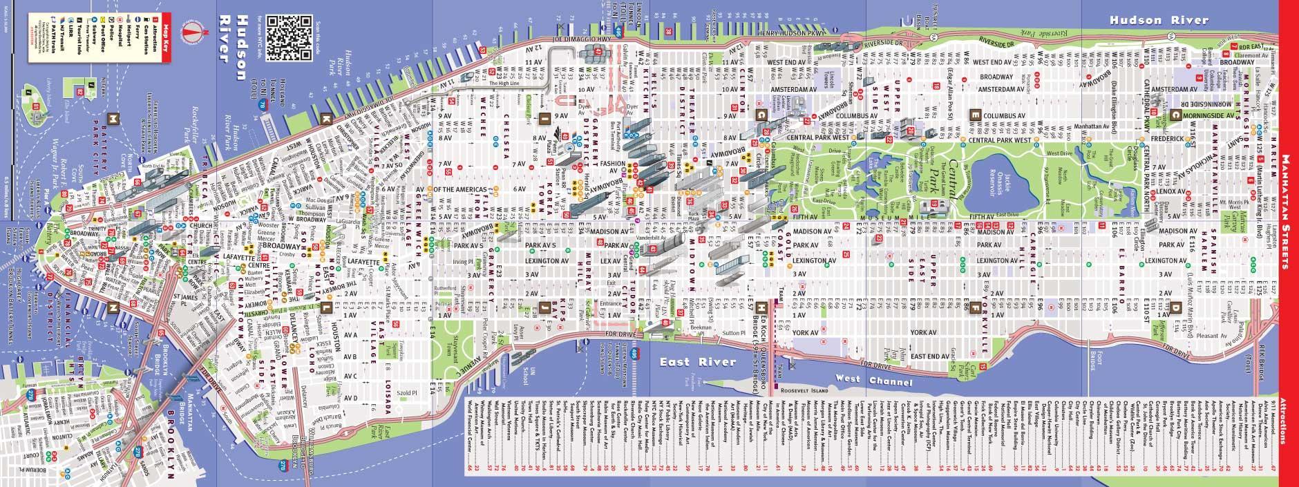 Kort Af Manhattan Nakvaemar Kort Af Manhattan Ny New York
