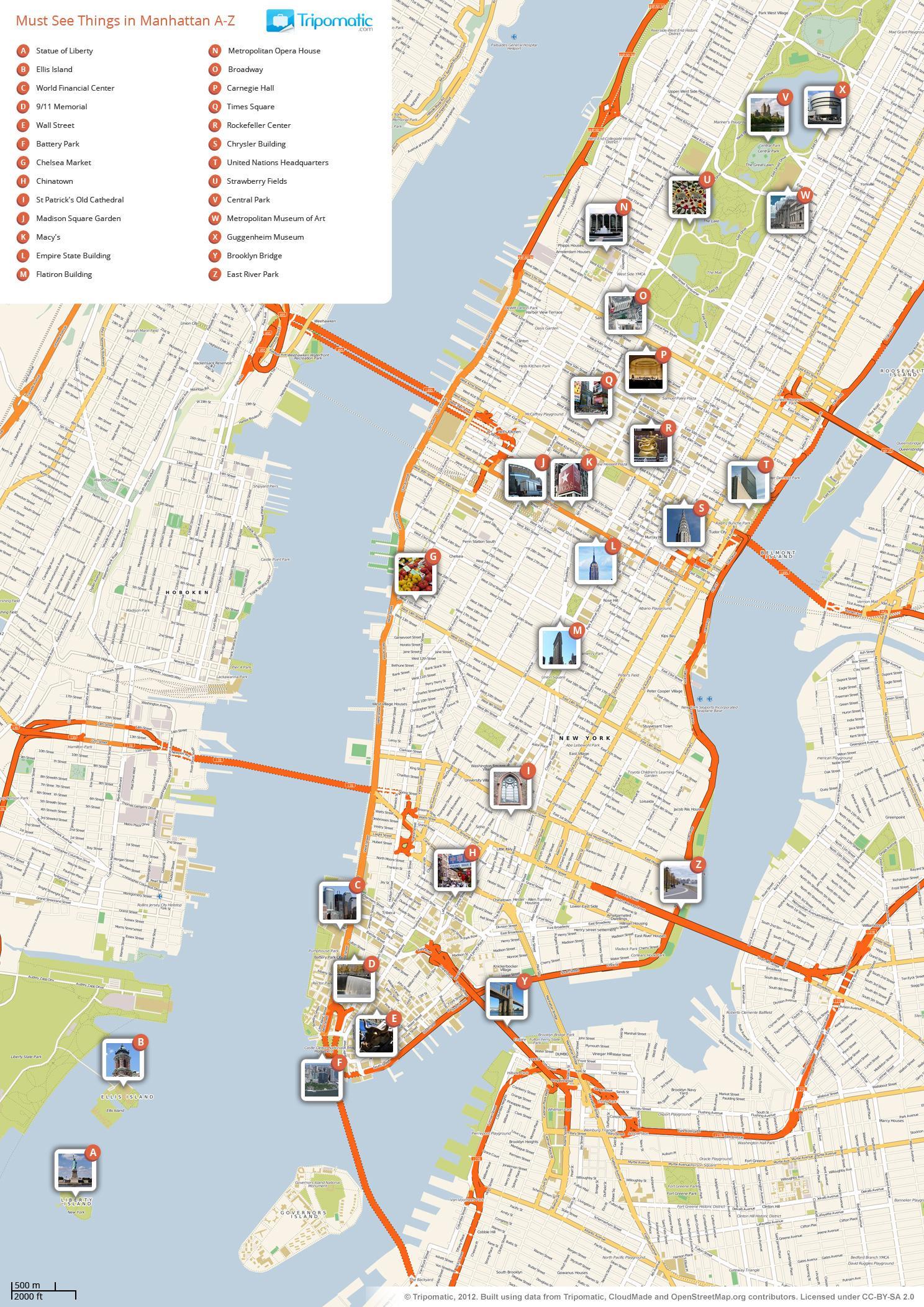 Manhattan Stadir Kort Kort Af Manhattan Syna Ferdamadur Stadir